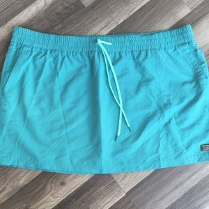 L.L Bean green blue workout hiking swimming skirt